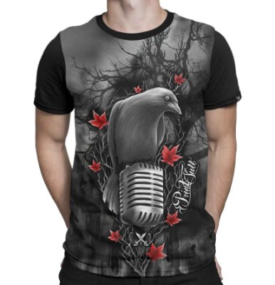Camiseta Printfull Crow Festival