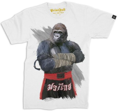 Camiseta Printfull Gorilla Fighter