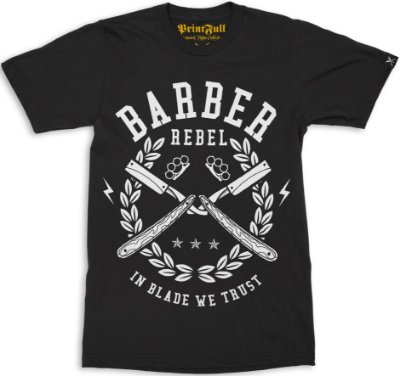 Camiseta Printfull Barber Rebel