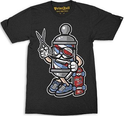 Camiseta Printfull Barber Skater
