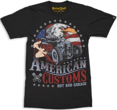 Camiseta Printfull American Customs