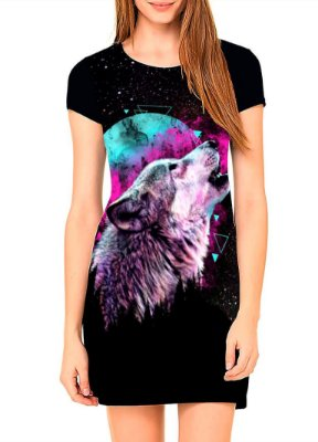 Vestido T-shirt Dress Printfull The Rebirth