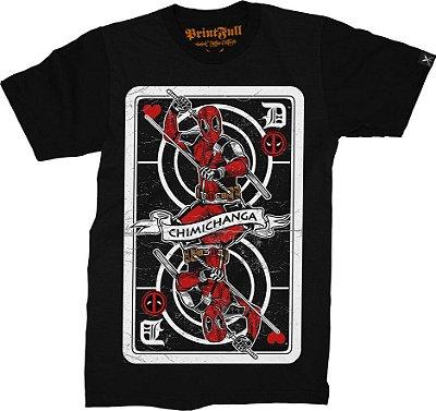 Camiseta Printfull Deadpool Card