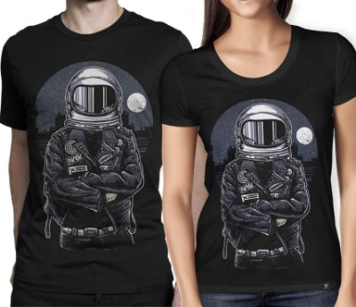 Camiseta Printfull Astronaut Rebel