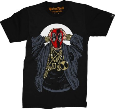 Camiseta Printfull Deadpool Gangsta