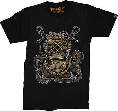 Camiseta Printfull Diver Octopus