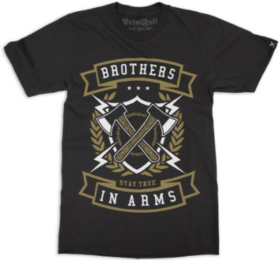 Camiseta Printfull Brother In Arms