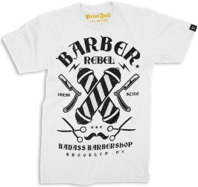 Camiseta Printfull Barber Rebel II