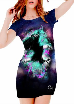 Vestido Printfull tipo camiseta t-shirt dress Constellation