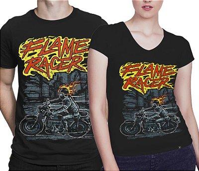 Camiseta Printfull Flame Racer