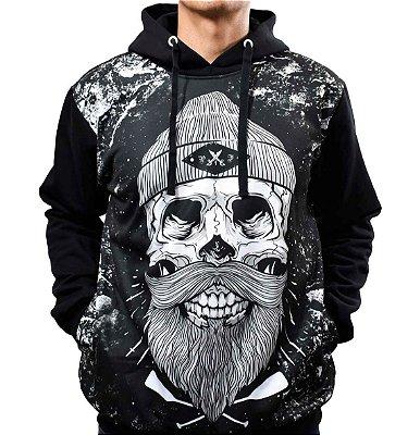 1180a0d875 Blusa de Frio Printfull Moletom Sailor Skull Beard Kult