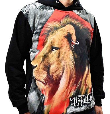 Blusa de Frio Printfull Moletom Lion Pride Warrior