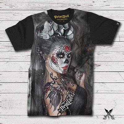 Camiseta Printfull Sugar Skull Bodyart