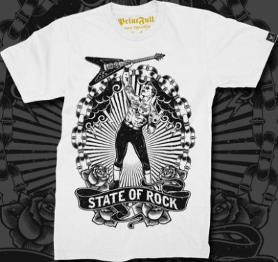 Camiseta Printfull State of Rock