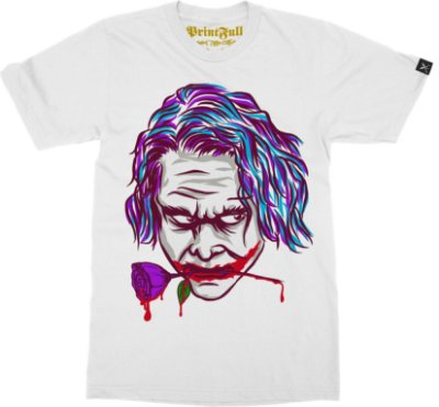 Camiseta Printfull Joker Purple