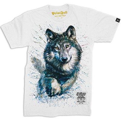Camiseta Printfull Wolf Watercolor