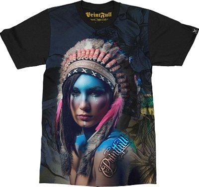 Camiseta Printfull Indian Girl Colorful