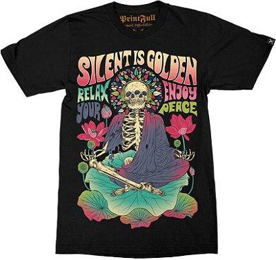 Camiseta Printfull Silent Is Gold