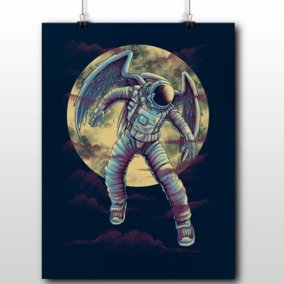 Poster Printfull Astronot