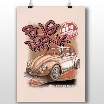 Poster Printfull Bug Think