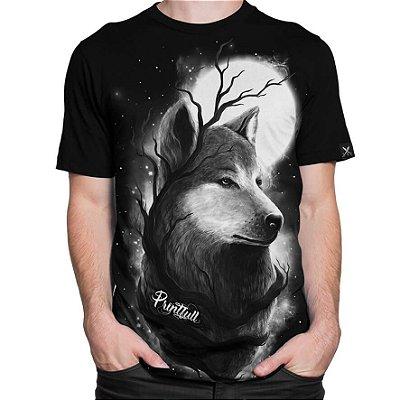 Camiseta Printfull Night Wolf