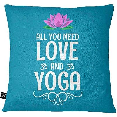 Almofadas Printfull Love and Yoga