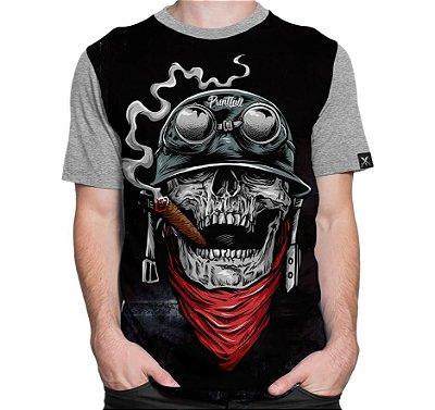 Camiseta Printfull Army Skull