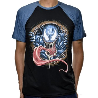 Camiseta Raglan Printfull Venom Rise