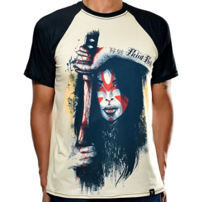Camiseta Raglan Printfull Samurai Sacrifice