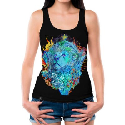 Regata Feminina Printfull Fire Lion
