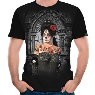 Camiseta Printfull Catrina Contemplate