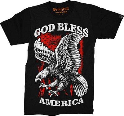 Camiseta Printfull God Bless America