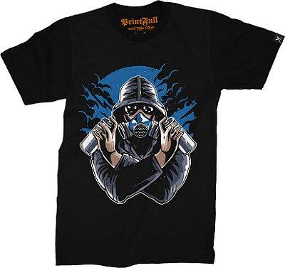 Camiseta Printfull Graffiti Gasmask