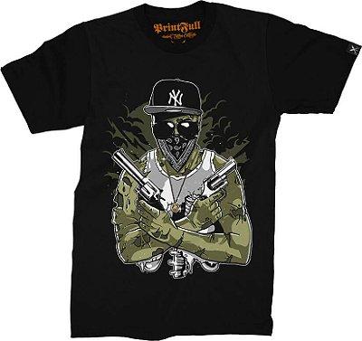 Camiseta Printfull Gangsta Zombie