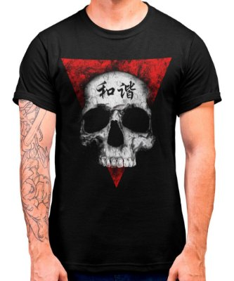 Camiseta Printfull Skull In Peace