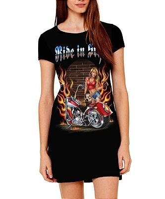 Vestido Printfull tipo camiseta t-shirt dress Ride in Style