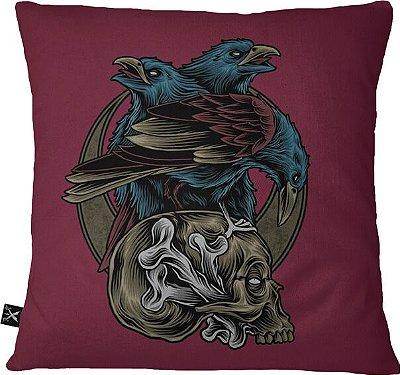Almofadas Printfull Skull and Crow