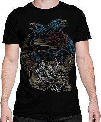 Camiseta Printfull Skull and Crow