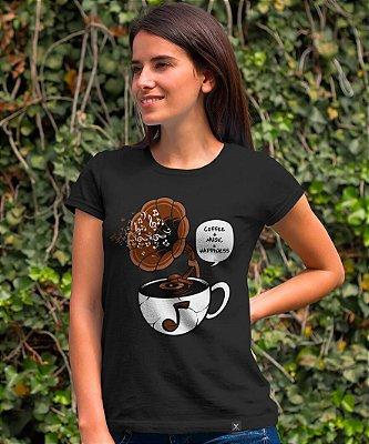 Camiseta Printfull Coffee and Music