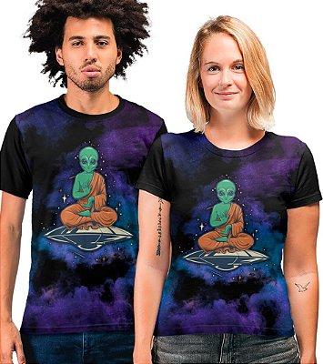 Camiseta Printfull Alien Buddha