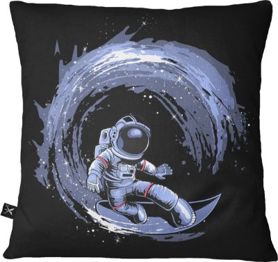 Almofada Printfull Surfing in Space