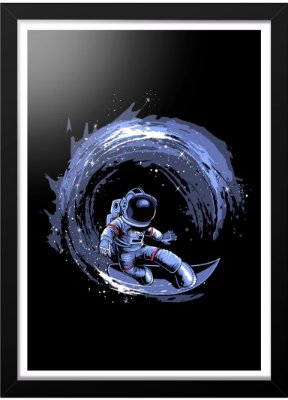 Quadro Printfull Surfing in Space