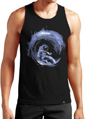Regata Masculina Printfull Surfing in Space