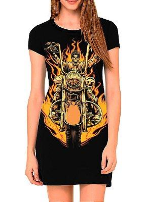 Vestido Printfull tipo camiseta t-shirt dress Biker Skull