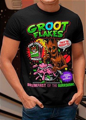 Camiseta Printfull Groot Flakes - masculina