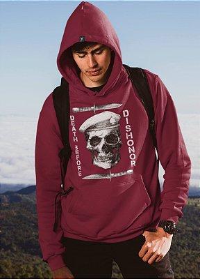 Blusa De Frio Printfull Unissex Skull Army