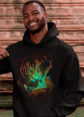 Blusa De Frio Printfull Unissex Tiger Light