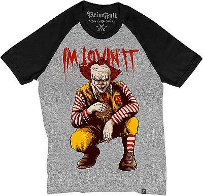 Camiseta Raglan Printfull I'M Lovin It