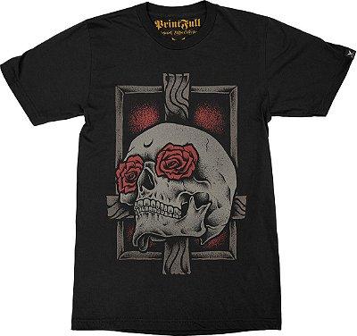 Camiseta Printfull Skull Cross