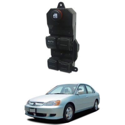 Botão Interrupter Vidro Elétrico Honda Civic Cr-v 2001/2006 2001 A 2005